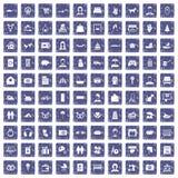100 Familienikonen stellten Schmutzsaphir ein Stockbilder