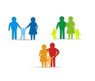 Familienikonendesign lizenzfreie abbildung