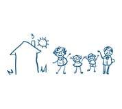 Familienikonenvektor Lizenzfreie Stockfotografie
