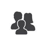Familienikonenvektor, gefülltes flaches Zeichen lizenzfreie stockfotografie