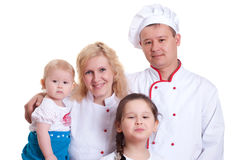 Familienkochen lizenzfreie stockfotos