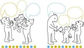 Familienkommunikation Stockbilder