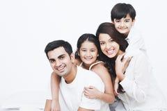 Familienlächeln Lizenzfreies Stockbild