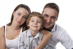 Familienlebensstilportrait Stockfotografie
