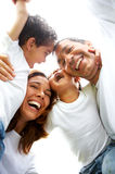 Familienlebensstilportrait Lizenzfreie Stockfotografie