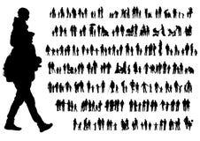 Familienleute auf Straße Stockfoto