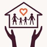 Familienliebeszusammenfassung stock abbildung