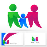 Familienlogoikonendesign-Schablonenelemente - Illustration Lizenzfreies Stockbild