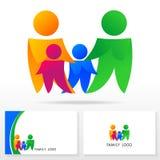 Familienlogoikonendesign-Schablonenelemente - Illustration Stockfotografie