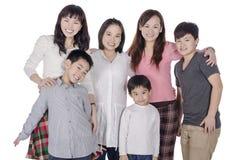 Familienmitgliedlächeln Stockbilder