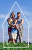 Familienmuttervater und -kind Lizenzfreie Stockfotos