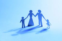Familienpapier Lizenzfreies Stockfoto