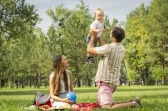 Familienpicknick Stockfoto