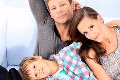 Familienporträt lizenzfreies stockfoto