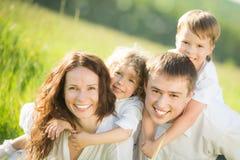 Familienporträt Stockfotos