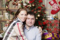 Familienporträt des neuen Jahres stockbild