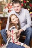 Familienporträt des neuen Jahres lizenzfreies stockfoto