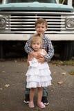 Familienporträts Lizenzfreie Stockfotografie