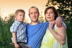 Familienportrait Stockfotografie