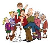 Familienportraitwiedervereinigung Lizenzfreies Stockbild