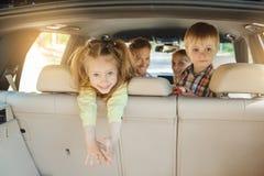 Familienreise der Reise mit dem Auto machen zusammen Urlaub Lizenzfreies Stockfoto