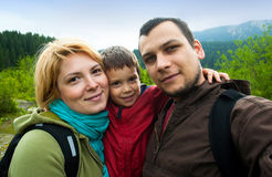 Familienreiseschnappschuß lizenzfreie stockfotografie
