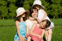 Familienrest auf dem Gebiet Stockbilder
