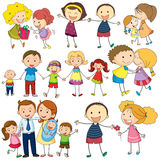 Familiensatz vektor abbildung