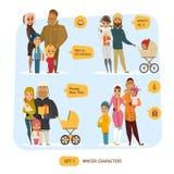 Familiensatz stock abbildung