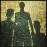 Familienschatten Stockbilder