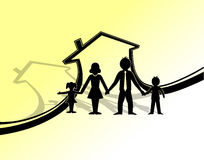 Familienschutzsymbol Lizenzfreie Stockfotografie