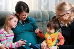 Familiensitzung Lizenzfreies Stockfoto