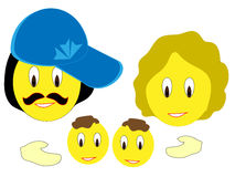 Familiensmiley Stockbild
