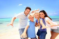 Familiensommerferien Lizenzfreies Stockfoto