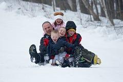 Familienspaß lizenzfreies stockbild