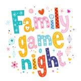 Familienspielnacht Lizenzfreie Stockbilder