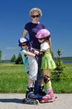 Familiensport Stockbilder
