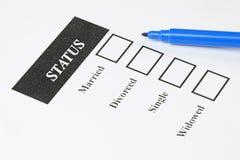 Familienstand-Form Lizenzfreie Stockfotos