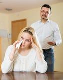 Familienstreit zu Hause Lizenzfreies Stockfoto
