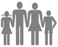 Familiensymbol Stockbild