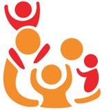 Familiensymbol in den einfachen Abbildungen Stockbilder