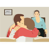 Familientherapeut-Vektor iilustration Stockbild