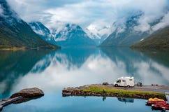 Familienurlaubreise RV, Feiertagsreise im motorhome Lizenzfreie Stockfotografie
