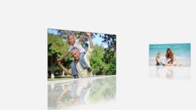 Familienurlaubvideos stock video