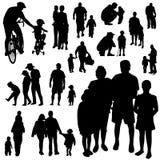 Familienvektor Lizenzfreies Stockfoto