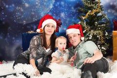 Familienweihnachten Stockfotografie