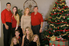 Familienweihnachten Stockbilder