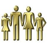 Familienwert-Konzept lizenzfreie abbildung