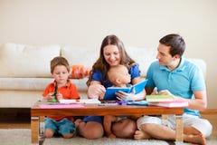 Familienzeichnung Lizenzfreies Stockfoto
