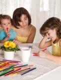 Familienzeichnung stockfotos